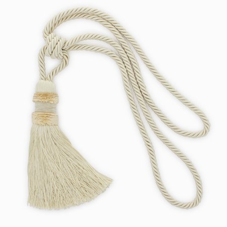 BEAUTIFUL Ivory Plush Tassel Tieback with 9