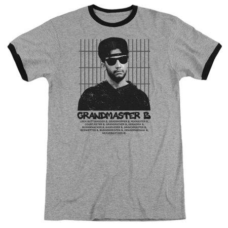 Aka Mens Tee - Married With Children- Grandmaster B (Aka... Ringer Apparel T-Shirt - Two-Tone