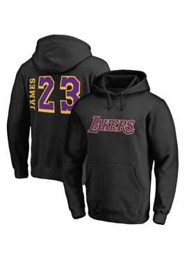 b2545131 Product Image LeBron James Los Angeles Lakers Fanatics Branded Side Sweep  Hoodie - Black