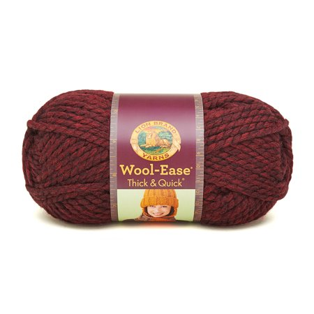 Lion Brand Yarns Wool Ease Thick & Quick Claret Classic Yarn, 1 Each