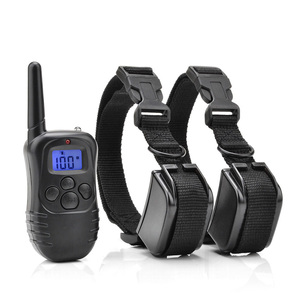 AGPtek Remote Control 2 Dogs Training Shock Collar & Training Transmitter With Individual Vibration