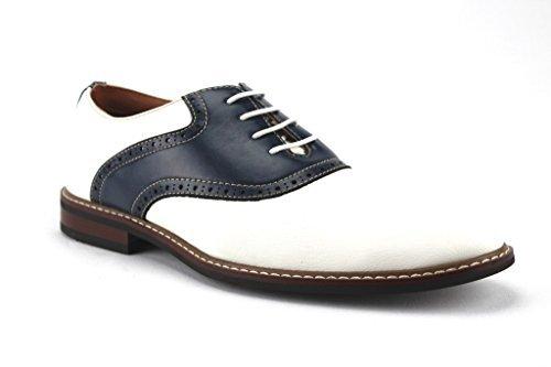 Ferro Aldo Men's 19268A Two Tone Saddle Dress Oxfords Shoes