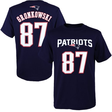 Rob Gronkowski New England Patriots Youth Primary Gear Name & Number T-Shirt - Navy Blue