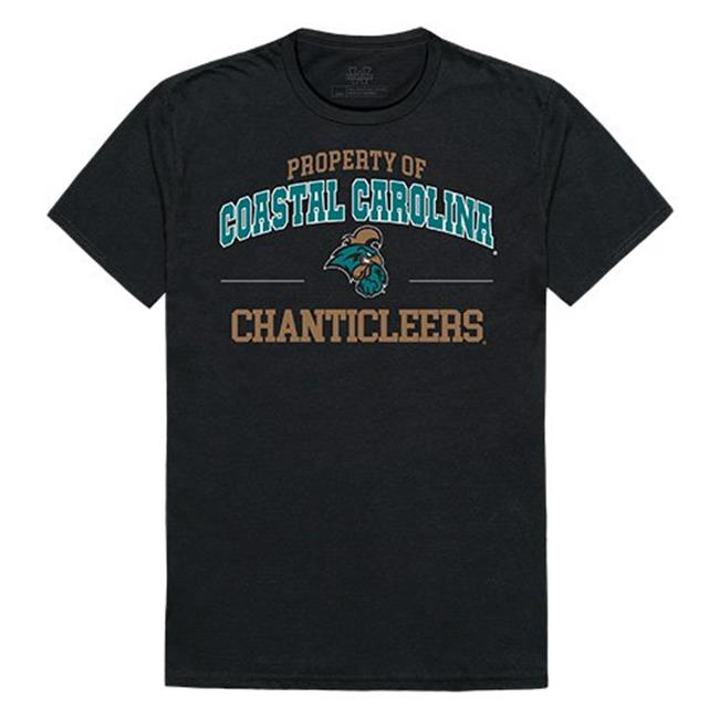 W Republic Apparel 517-116-E27-01 Coastal Carolina University Property College Tee Shirt - Black, Small - image 1 de 1
