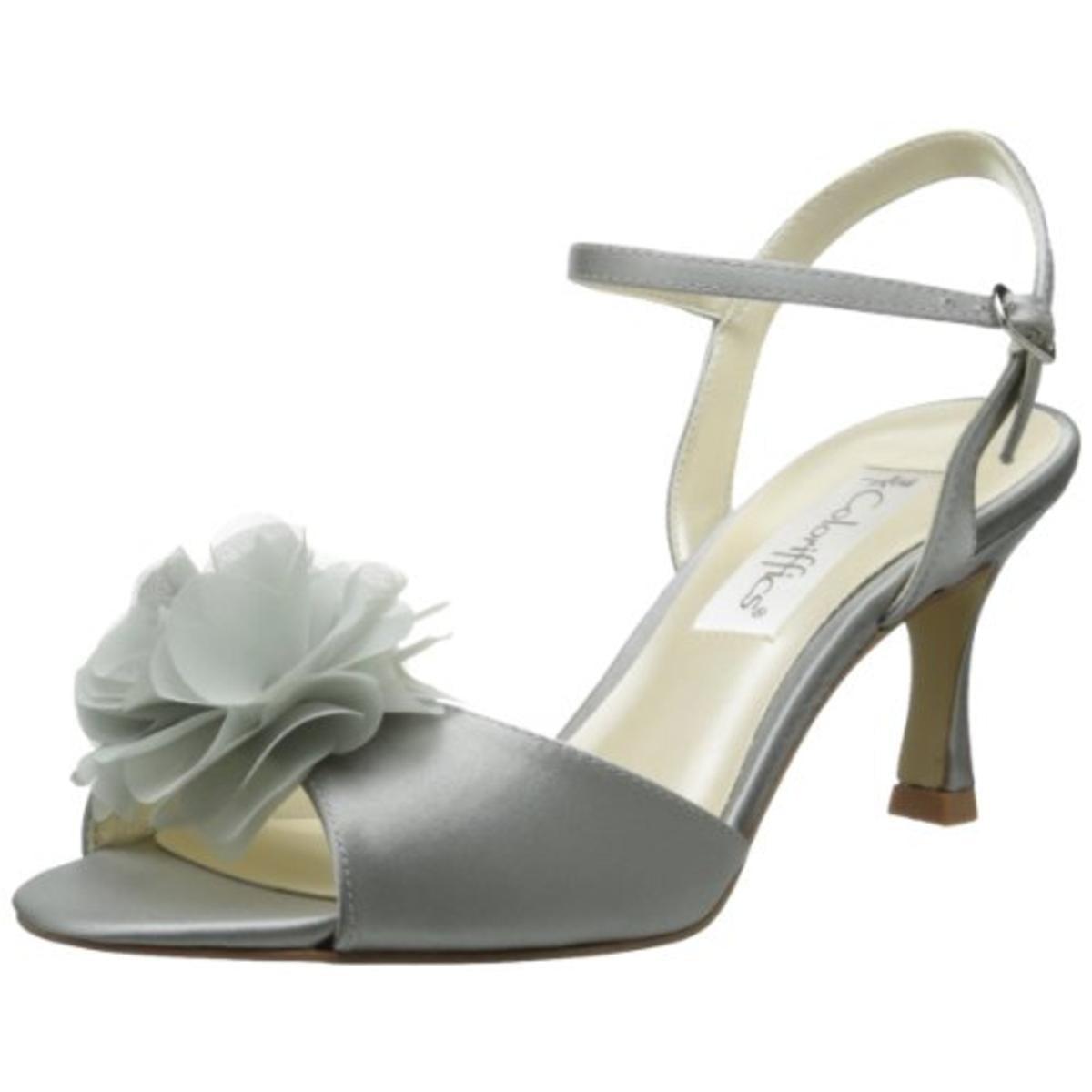 Coloriffics Womens Bristol Satin Ankle Strap Dress Sandals by Coloriffics