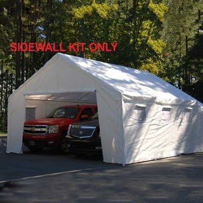 Triple Bug Canopy (King Canopy 18 Ft x 20 Ft Sidewall Kit w/ Flaps and Bug Screen Windows )