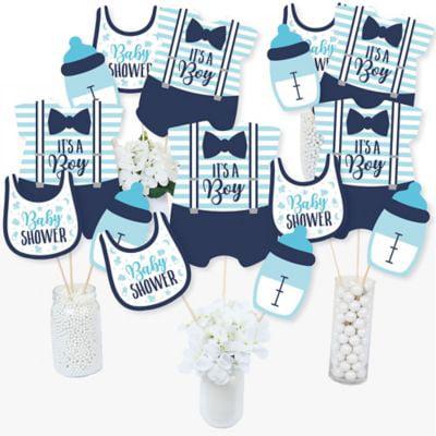 It's a Boy - Blue Baby Shower Centerpiece Sticks - Table Toppers - Set of 15 - Baptism Centerpieces Boy