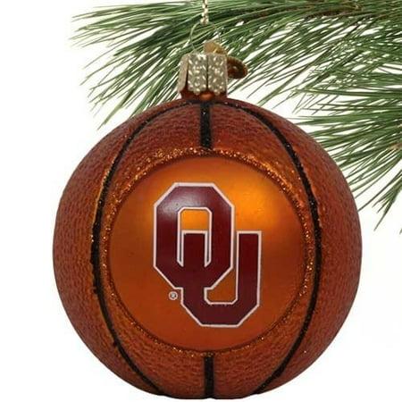 NCAA Oklahoma Sooners Glass Basketball Ornament Oklahoma Sooners Glass