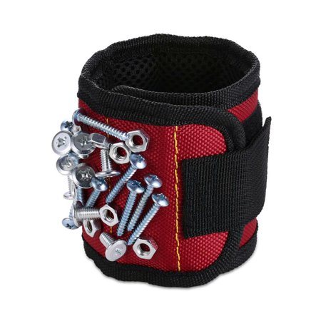 Magnetic Wristband (1 Pack) with Strong Magnets for Holding Screws, Nails, Drill Bits - Best Unique Tool Gift for DIY Handyman, Father/Dad, Husband, Boyfriend, Men, Women