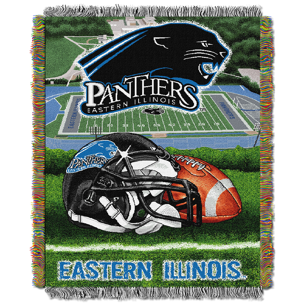 "Eastern Illinois Panthers NCAA Woven Tapestry Throw (Home Field Advantage) (48""x60"")"