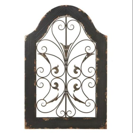 36 Modena Distressed Wooden Scrolled Decorative Arch Wall