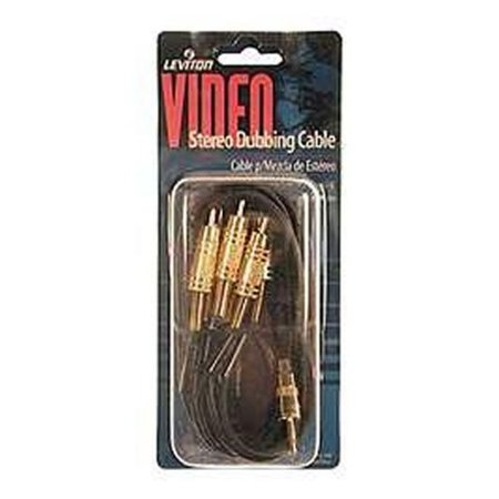 Leviton C5822-GO 6-Foot Deluxe Stereo Dubbing Cable, Gold-Plated