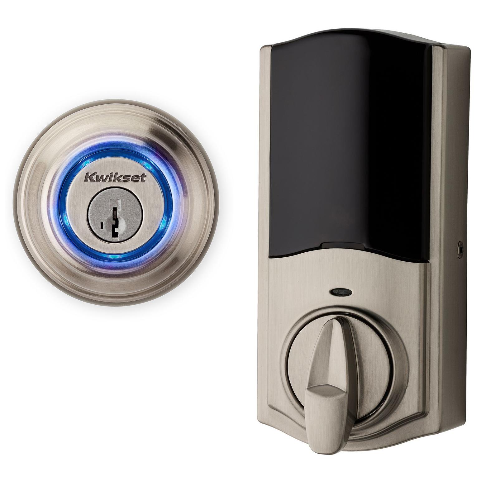 Kwikset 99250-202 Satin Nickel Kevo 2nd Gen Touch-To-Open™ Bluetooth Key & Electronic Smart Door