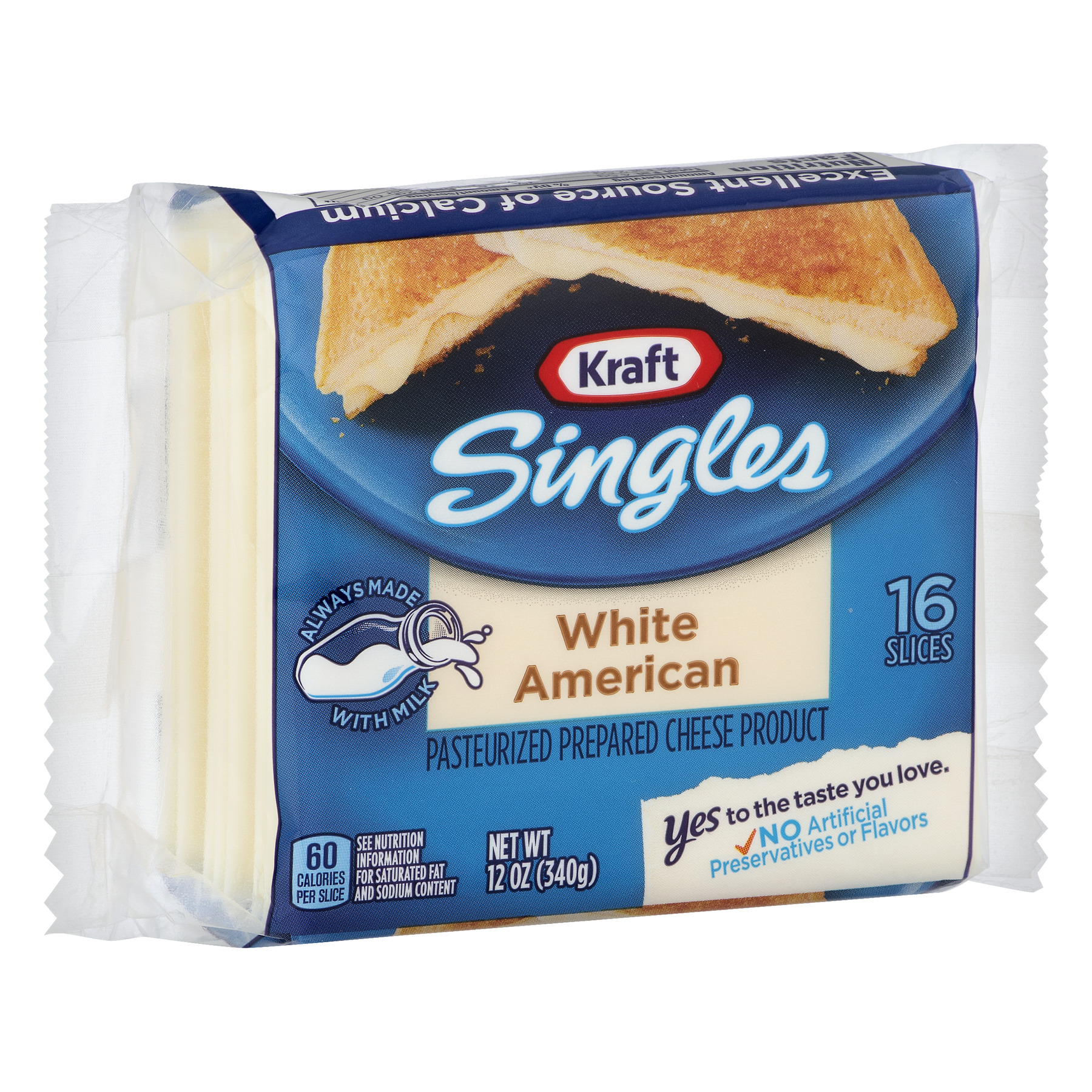 calories in white american cheese