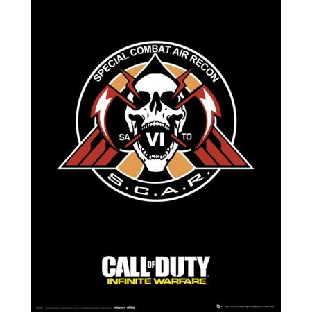 Call Of Duty Infinite Warfare  S C A R  Poster   16X20