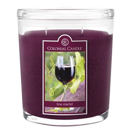 Colonial Candle Two-Wick 22 Oz. Oval Jar - Fine Merlot