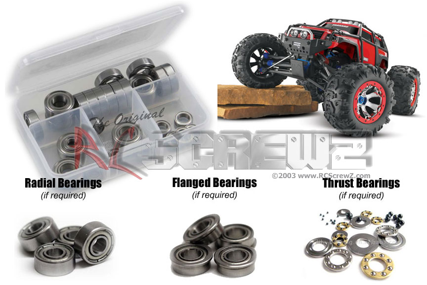 RC Screwz Metal Shielded Bearing Kit for Traxxas 1 10th Summit #tra036b by RCScrewZ
