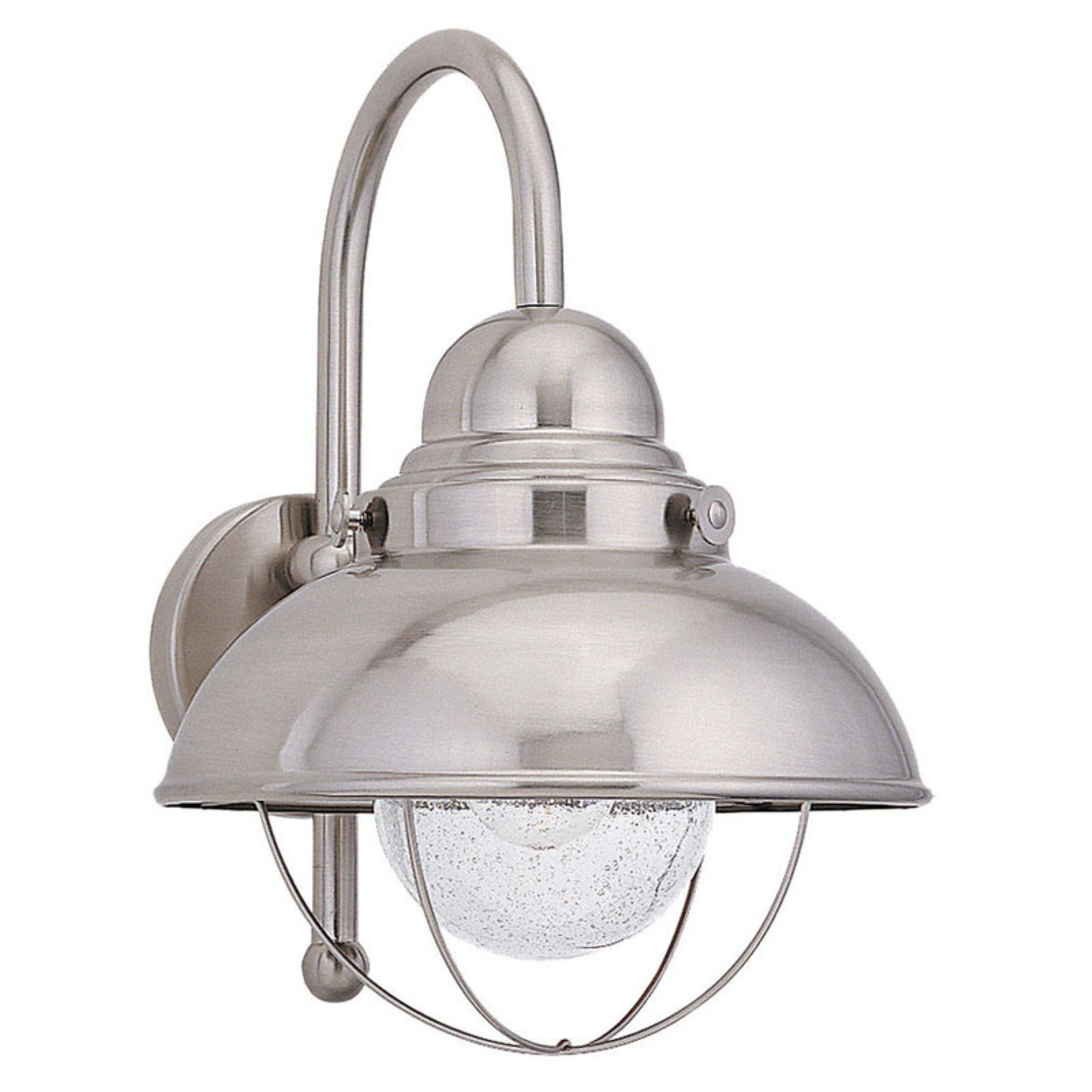 Sea Gull Sebring Outdoor Hanging Wall Light - 15.75H in. Brushed Stainless