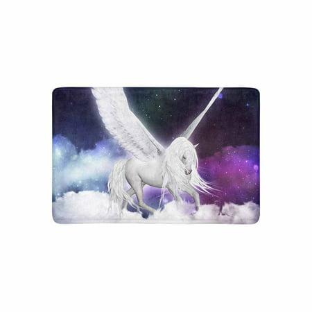 MKHERT Fantasy Pegasus Horse Flying Above Clouds Doormat Rug Home Decor Floor Mat Bath Mat 23.6x15.7 inch - Above Door Decor