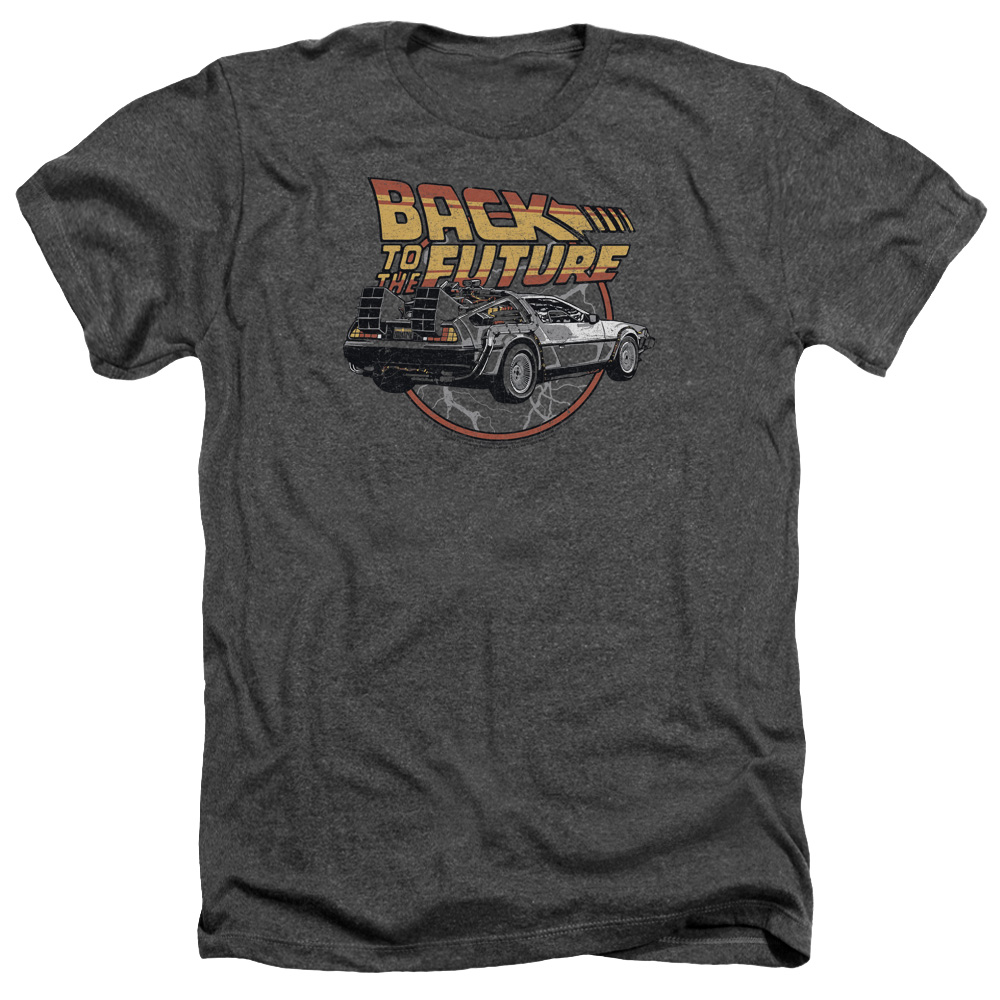 Back To The Future Time Machine Mens Heather Shirt