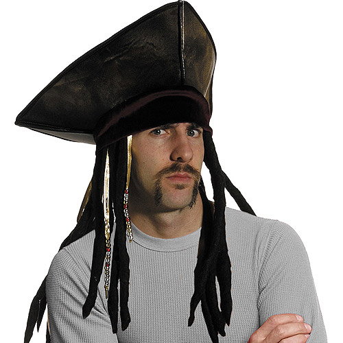 Halloween Adult Pirate Hat With Dreads