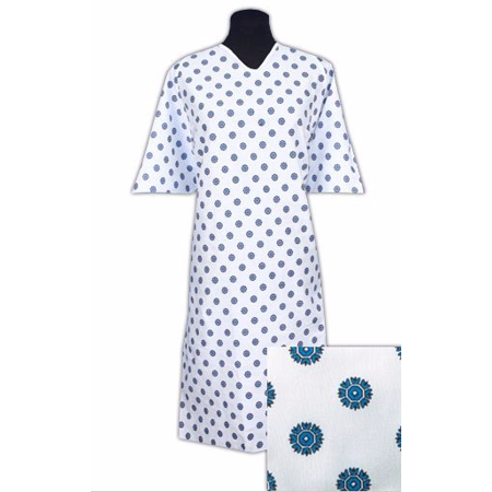 Oversized Hospital  Gowns  Snowflake Print 3XL - Halloween Hospital Gown