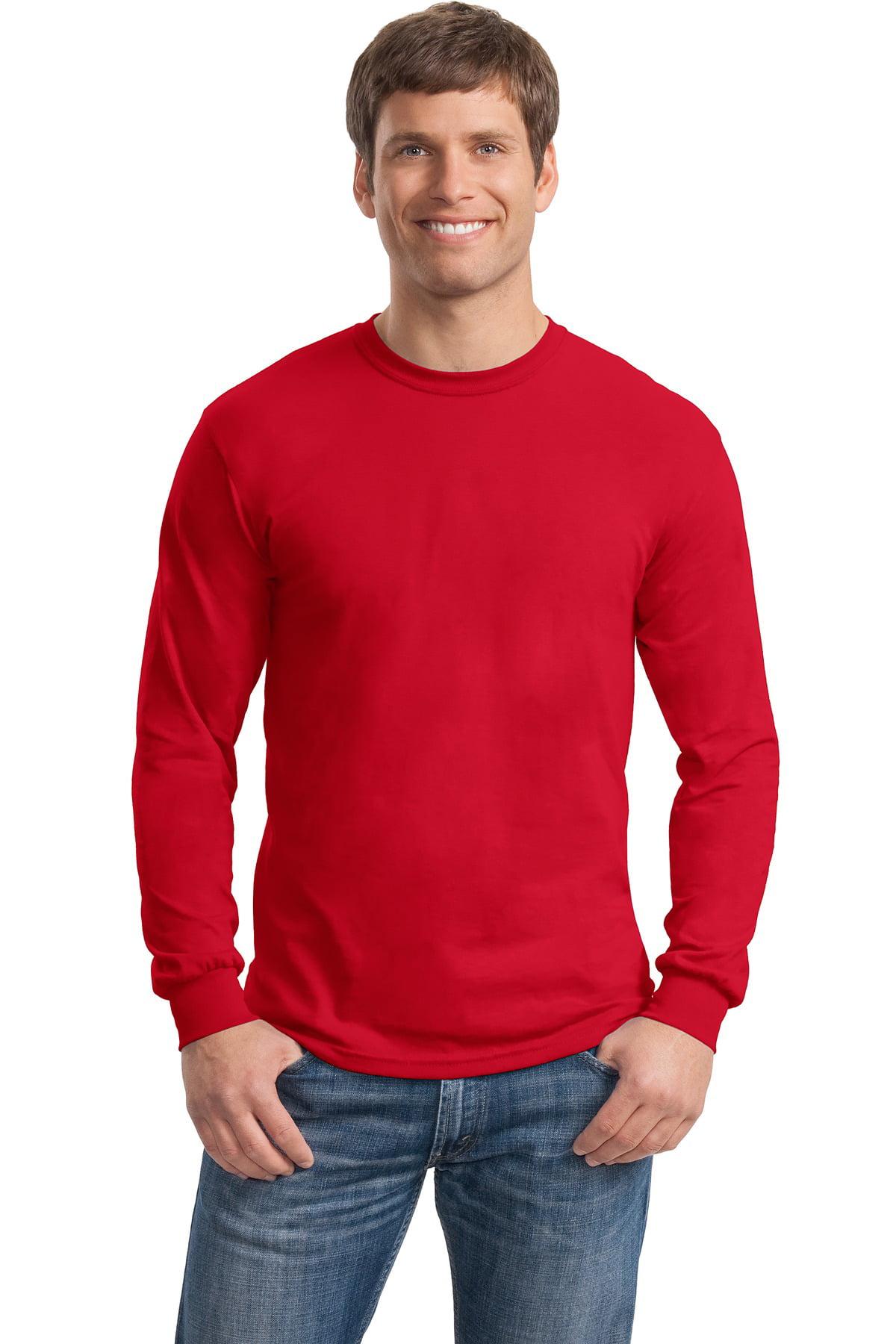 b56ccd1f026 Gildan - Gildan Men s Short Sleeve Heavy Cotton 100% Cotton Long Sleeve T- Shirt - 5400 - Walmart.com