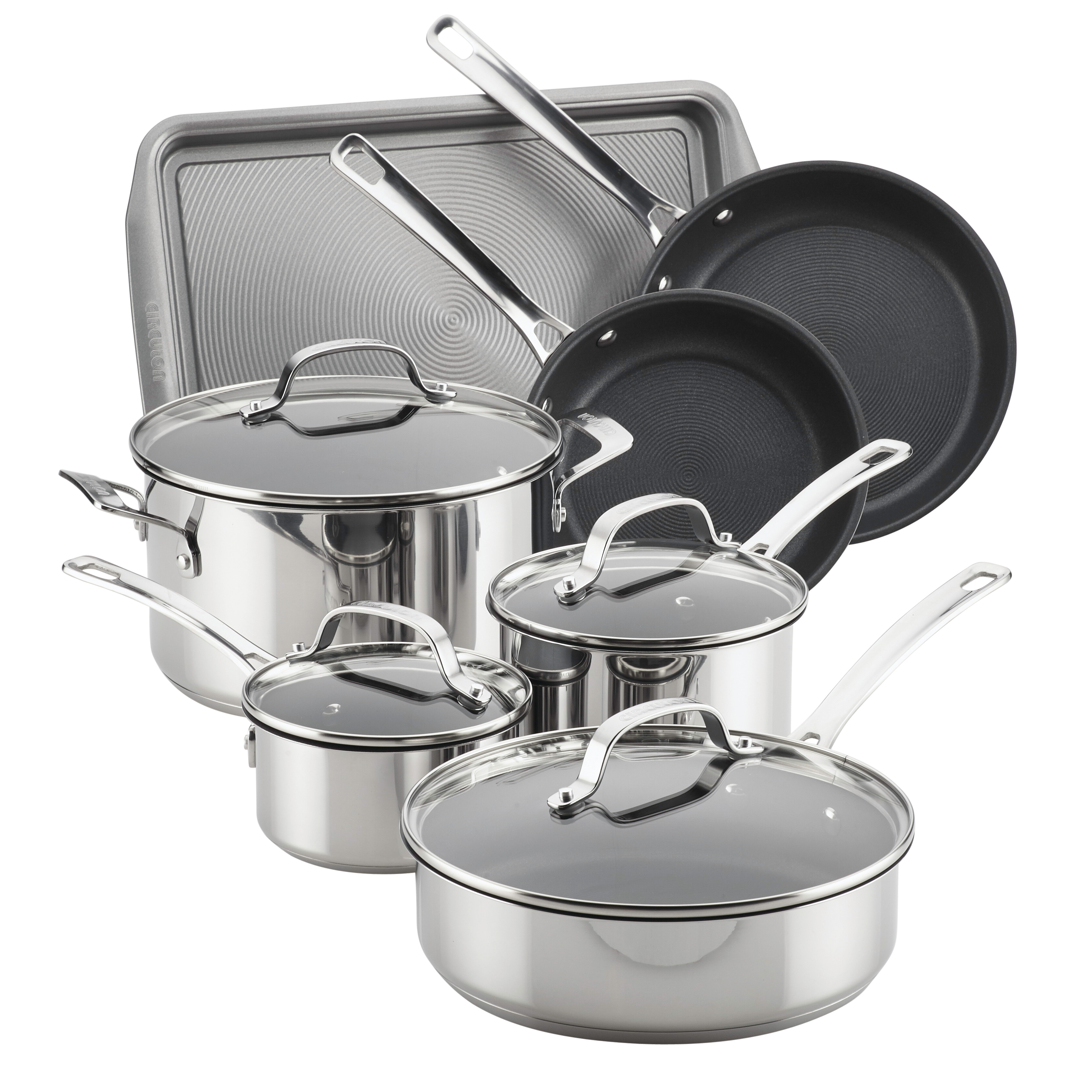 Circulon Genesis Stainless Steel Nonstick 11-Piece Cookware Set