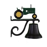 Montague Metal Products CB-1-50-Orange Cast Bell With Orange Tractor Ornament