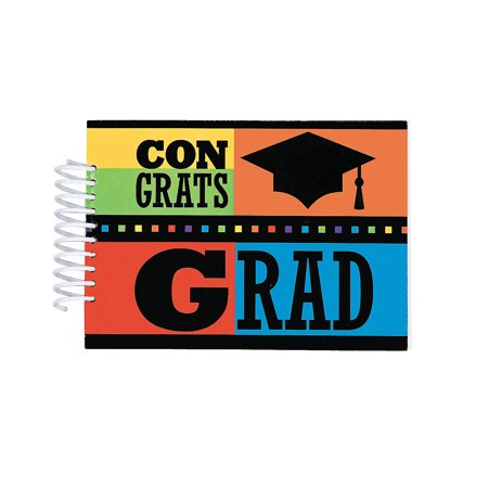 Fun Express - Congrats Grad Autograph Journal for Graduation - Stationery - Notepads - Note Books & Journals - Graduation - 12 Pieces - Graduation Autograph Book