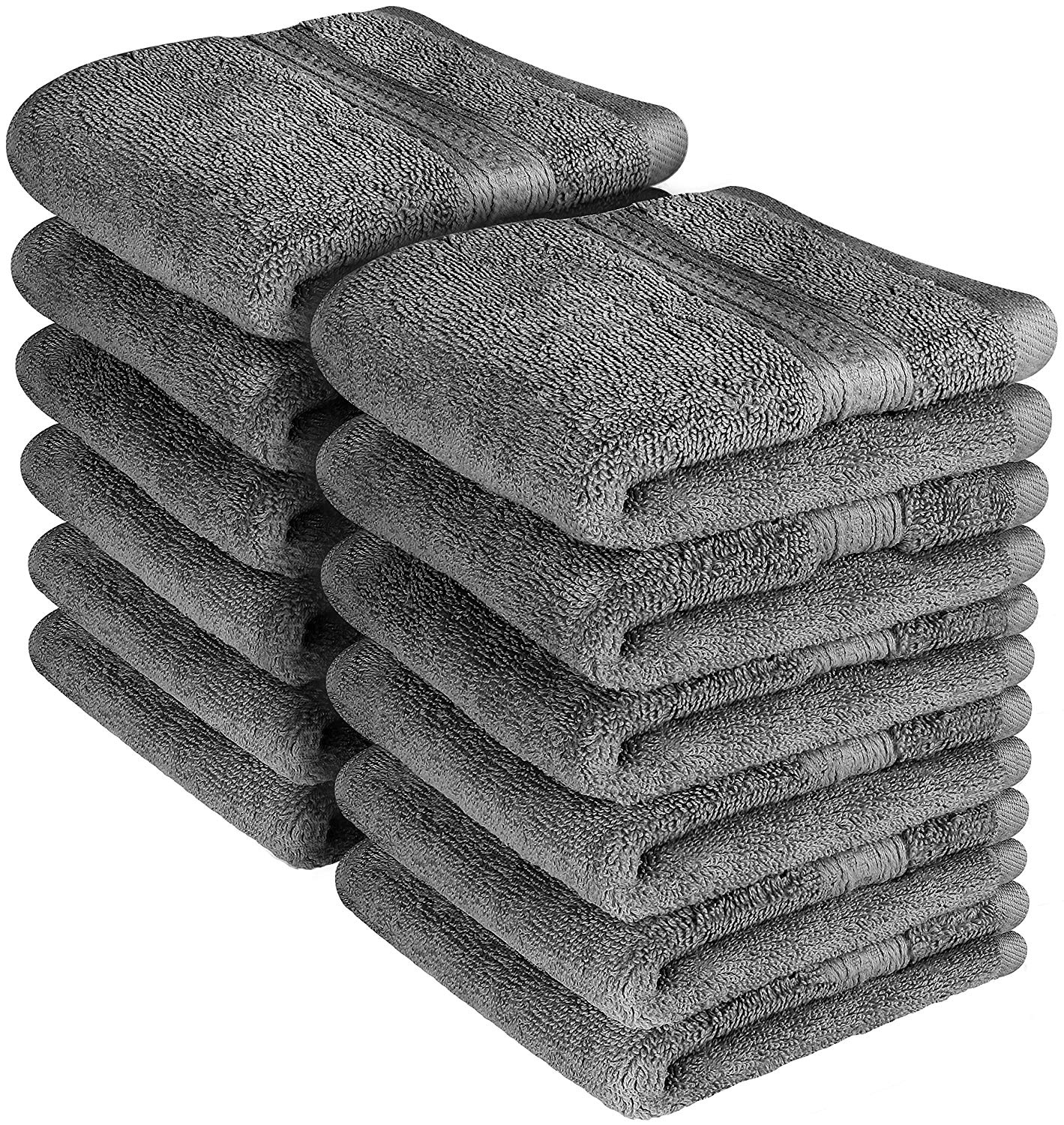 Beauty Threadz Premium 700 GSM Washcloths Towels Set (12 Pack, Grey, 12 x 12 Inches) Multipurpose Extra Soft... by Beauty Threadz