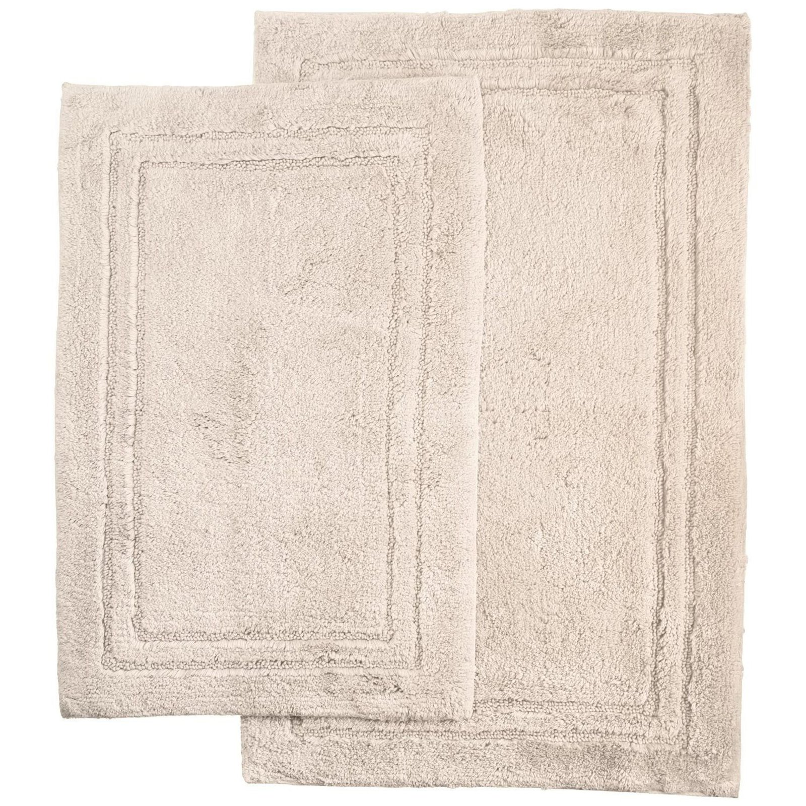 Superior Luxurious Cotton Non-Skid 2Pc Bath Rug Set