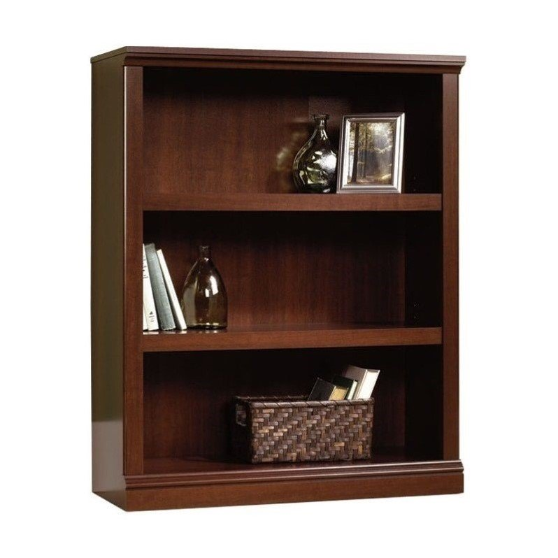 Sauder 3-Shelf Bookcase, Select Cherry Finish