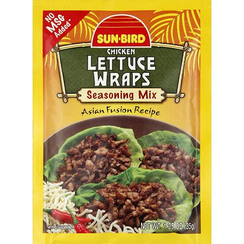 Sun-Bird Chicken Lettuce Wraps Seasoning Mix, 1.25 oz, (Pack of 24)