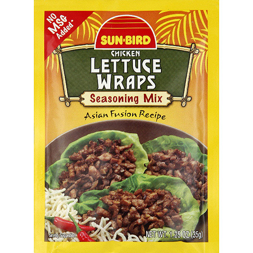 Sun-Bird Chicken Lettuce Wraps Seasoning Mix, 1.25 oz, (Pack of 24)