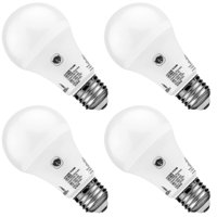 Hyperikon Dusk to Dawn LED Bulbs A19 10W (65 Watts Replacement), Porch Light with Built-in Photocell Sensor, E26, UL, D2D Yard Lighting, Patio, 4 Pack