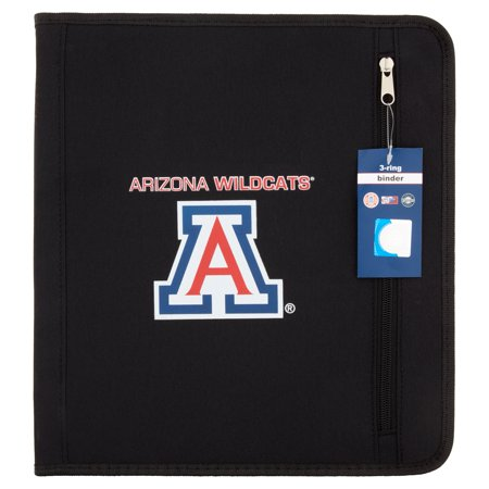 Arizona Wildcats 3 Ring Zipper Binder