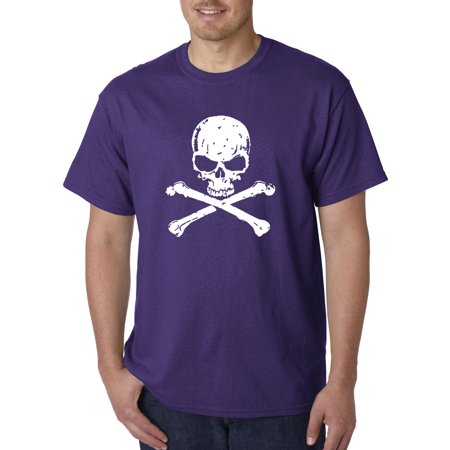 Trendy USA 735 - Unisex T-Shirt Skull Crossbones Pirate Poison Death 4XL Purple Skull Crossbones Pirate