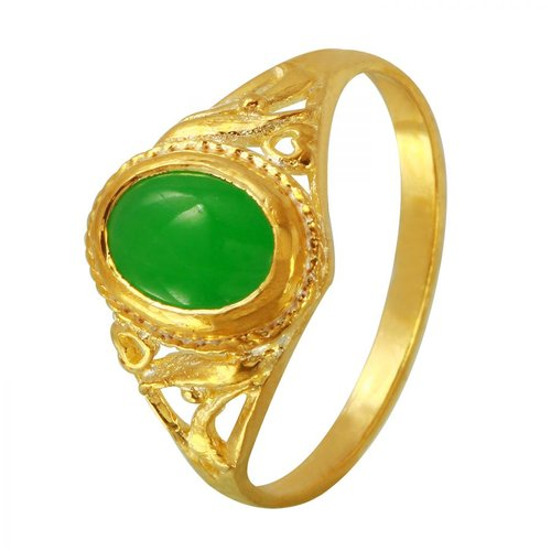 Foreli 1.3CTW Chrysoprase 18k Yellow Gold Ring by Generic