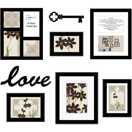mainstays 8 piece love frame set