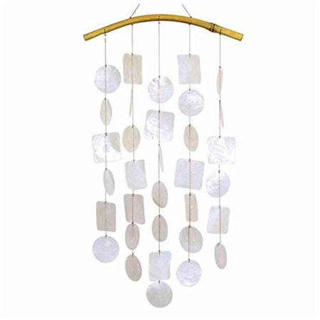 Wind Chime White Capiz Shell Chimes Bamboo Arch Indoor Outdoor Garden Windchime](Shell Wind Chimes)