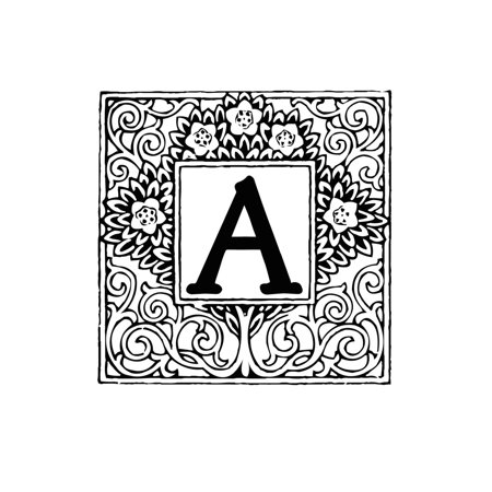 Line Standard Sized Monogram (A: Monogram Letter Initial Blank Book Journal 5 X 8 Size, 80 Gray Lined Pages, Color the Cover Topiary (Paperback) )
