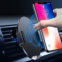 e44bf95cb21966 Product Image Touch Sensitive Phone Car Mount Wireless Charger, Qi Fast Wireless  Car Charger, One-