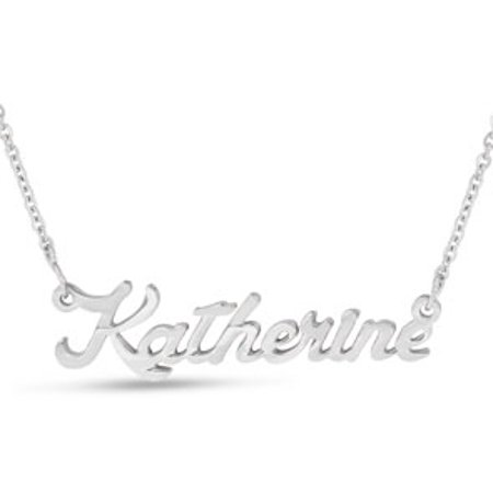 Katherine Nameplate Necklace In Silver