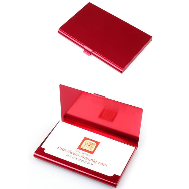 DZT1968 Creative Aluminum Holder Metal Box Cover Credit Business Card Wallet BK