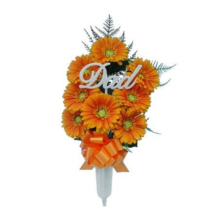 Mainstays Or Gerbdsy Vase. Mainstays Orange Gerbdsy Vase