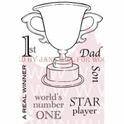 """Woodware Clear Stamps 3.5""""X5.5""""-The Winning Cup"""