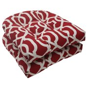 Pillow Perfect Outdoor/ Indoor New Geo Red Wicker Seat Cushion (Set of 2)