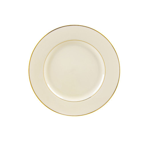TenStrawberryStreet Cream Double Gold 7.5'' Salad / Dessert Plate (Set of 6)