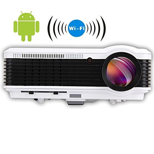 EUG HD 3D LED Projector With Built-In Android4.2 Wireless...